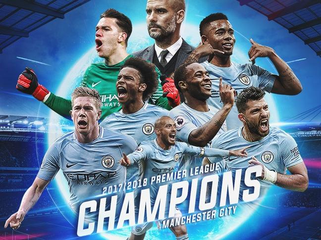 Manchester City 2017/18 Premier League Champions